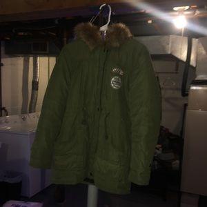 Jackets & Blazers - Green parka like winter coat